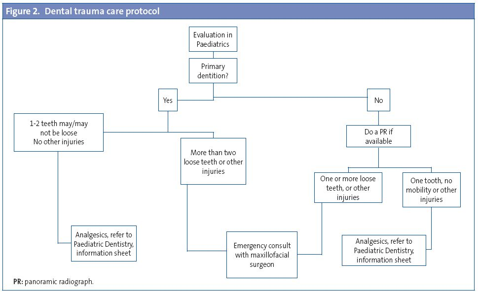 Figure 2. Dental trauma care protocol